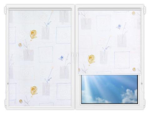 Рулонные шторы Мини - Аниара-блю на пластиковые окна