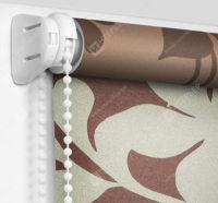 Рулонные шторы Мини - Ажур коричневый