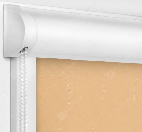 Рулонные кассетные шторы УНИ - Флора персиковый