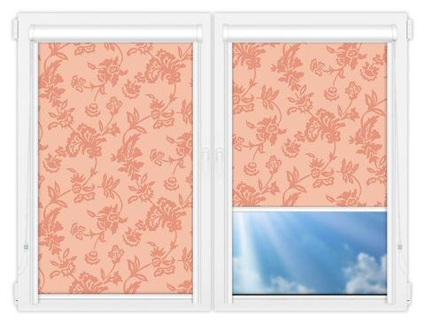 Рулонные кассетные шторы УНИ - Калифорния-2 на пластиковые окна
