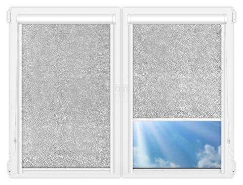 Рулонные кассетные шторы УНИ - Карисма-сильвер