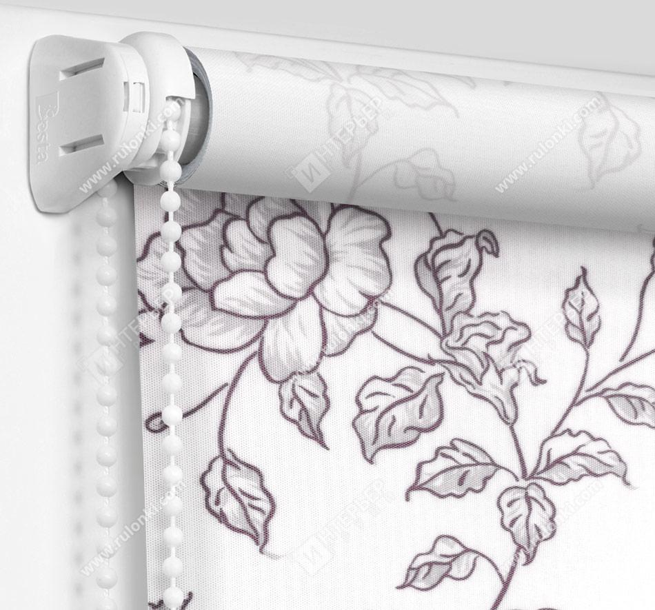 Рулонные шторы Мини - Китайская роза черный
