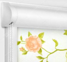 Рулонные кассетные шторы УНИ - Крымская роза розовый