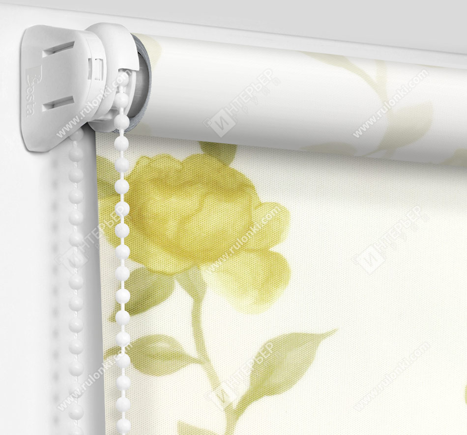 Рулонные шторы Мини - Крымская роза желтый