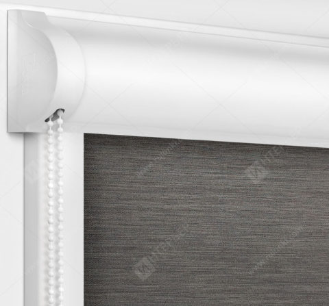 Рулонные кассетные шторы УНИ - Лусто темно-серый