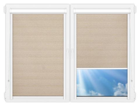 Рулонные кассетные шторы УНИ - Маракеш-бейж на пластиковые окна