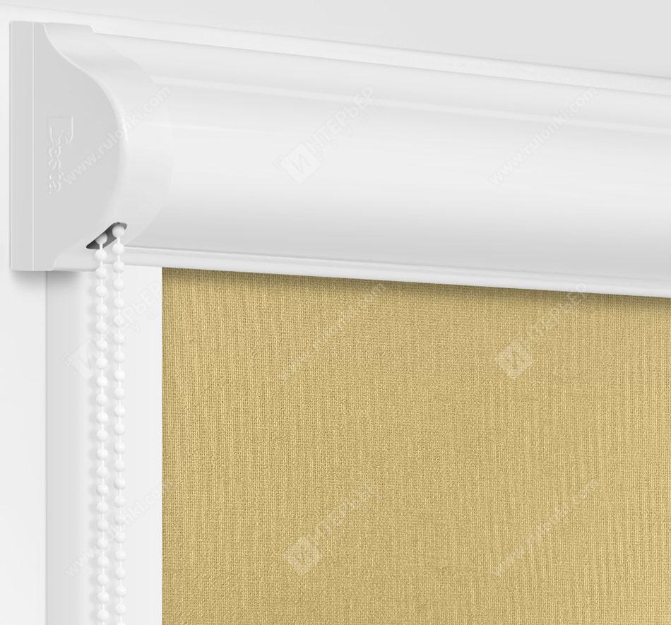 Рулонные кассетные шторы УНИ - Металлик-фисташковый