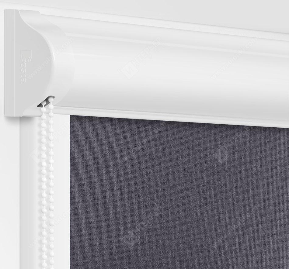 Рулонные кассетные шторы УНИ - Металлик графит