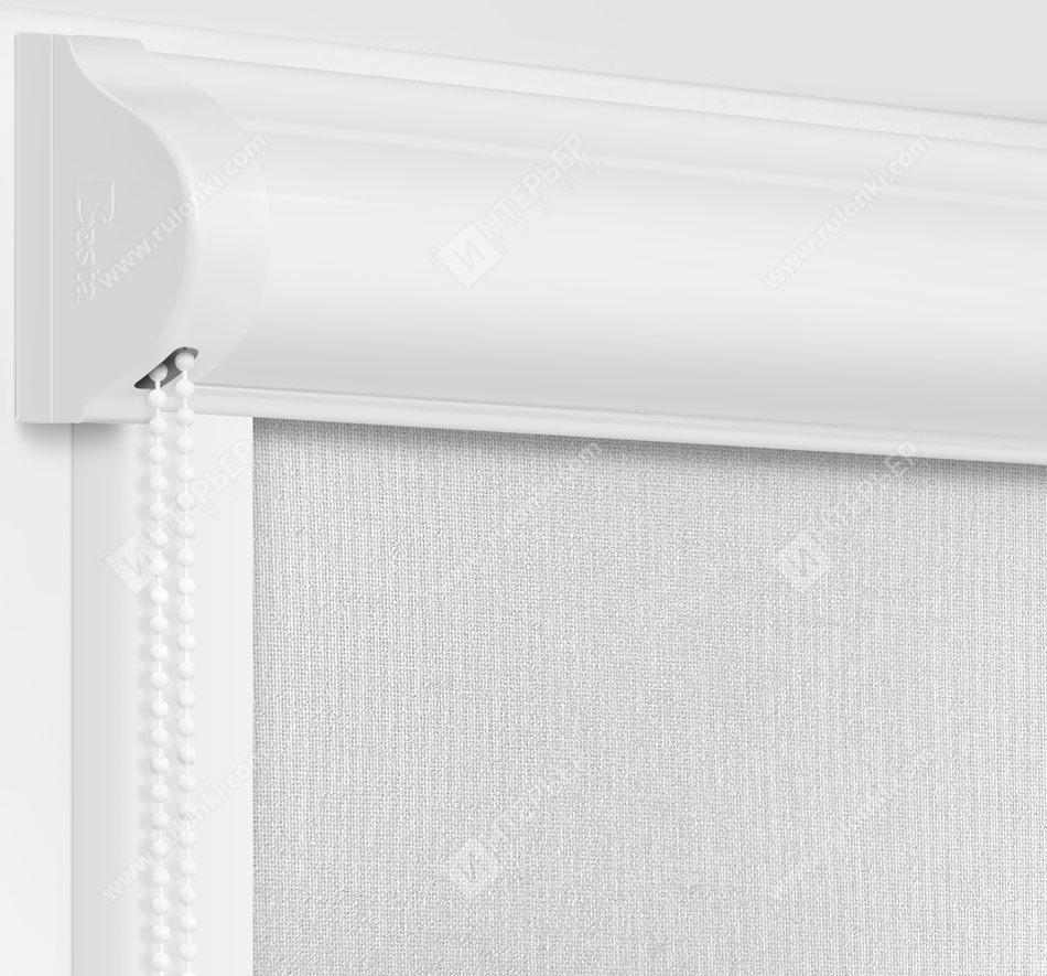Рулонные кассетные шторы УНИ - Металлик серебро