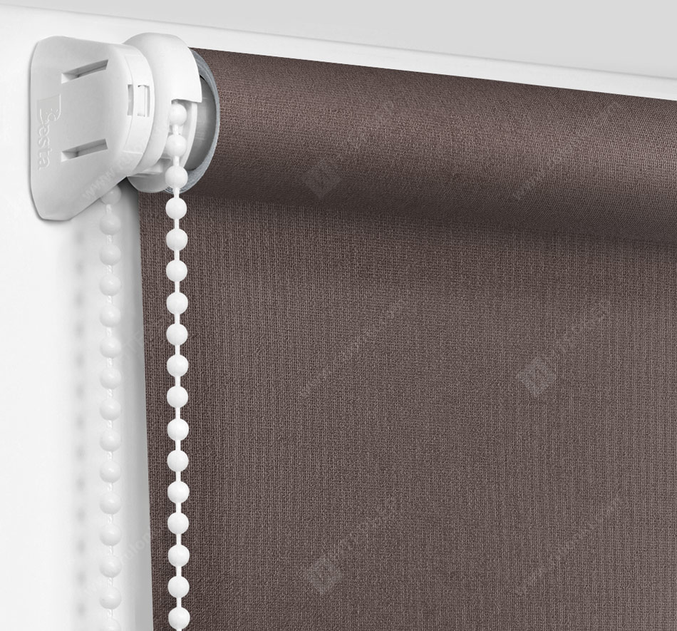 Рулонные шторы Мини - Металлик темно-коричневый