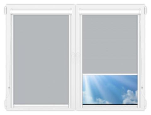 Рулонные кассетные шторы УНИ - Мюнхен-блэкаут-53 на пластиковые окна