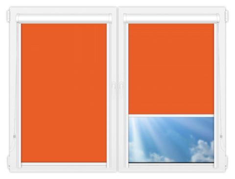 Рулонные кассетные шторы УНИ - Мюнхен-блэкаут-54 на пластиковые окна