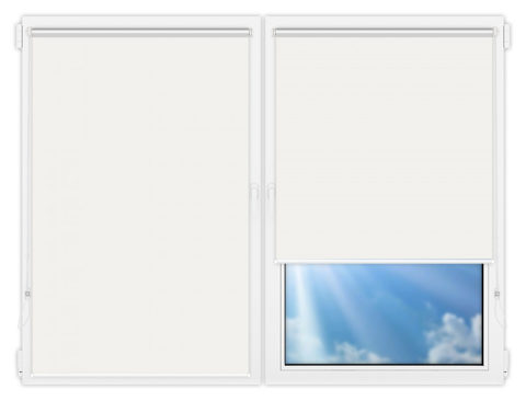 Рулонные шторы Мини - Мюнхен-перл-1 на пластиковые окна