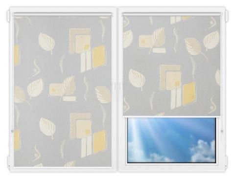 Рулонные шторы Мини - Опус-грей на пластиковые окна