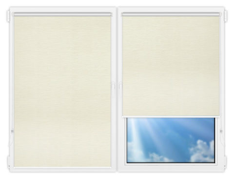 Рулонные шторы Мини - Раита-натурал на пластиковые окна