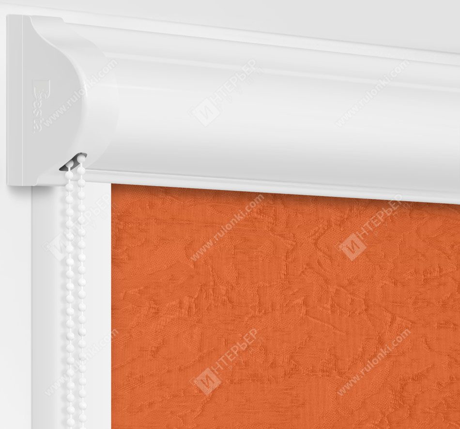 Рулонные кассетные шторы УНИ - Шелк коралл