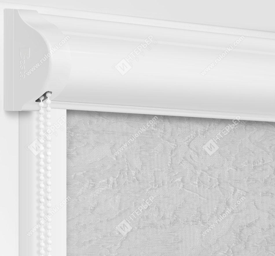 Рулонные кассетные шторы УНИ - Шелк серый