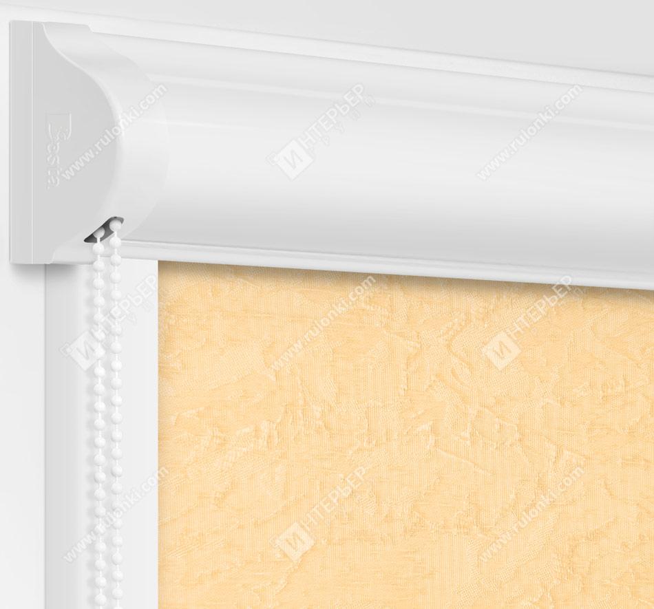 Рулонные кассетные шторы УНИ - Шелк светло-бежевый