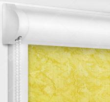 Рулонные кассетные шторы УНИ - Шелк желтый