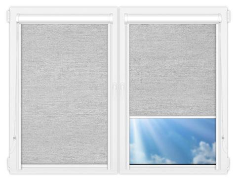 Рулонные кассетные шторы УНИ - Валенсия-белый