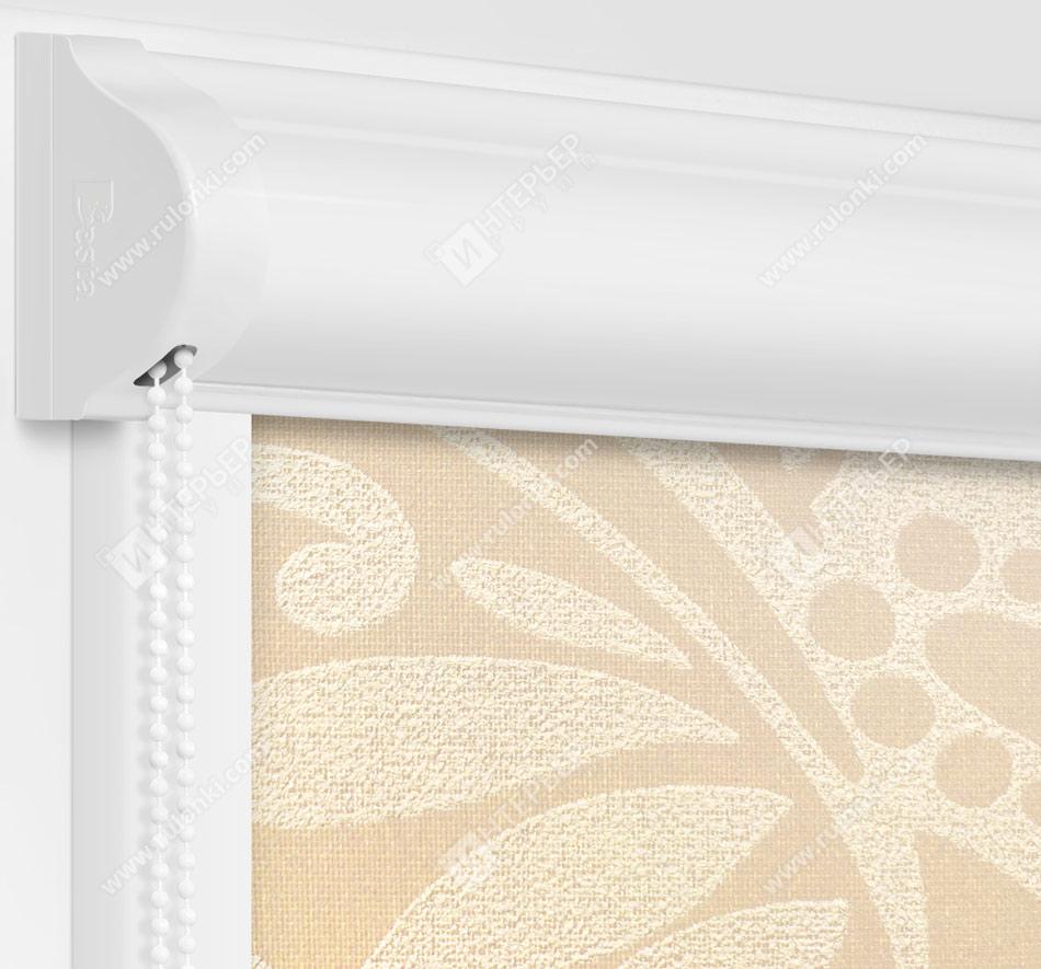 Рулонные кассетные шторы УНИ - Версаль блэкаут перл
