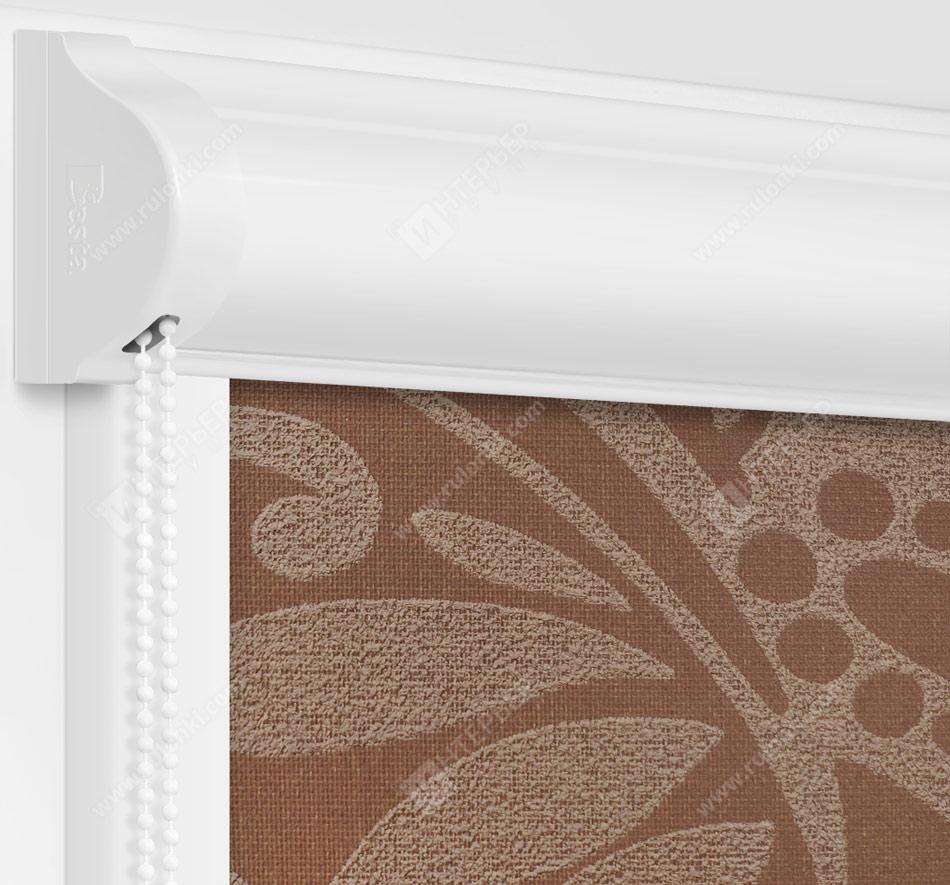 Рулонные кассетные шторы УНИ - Версаль шоколад