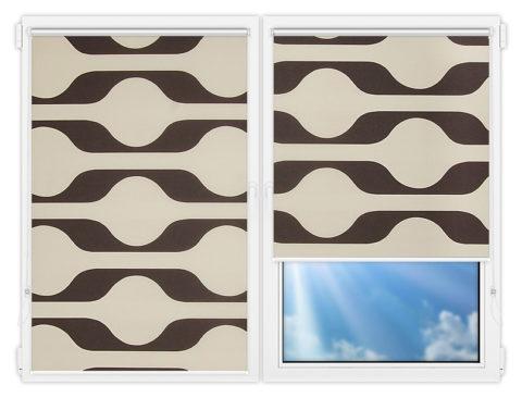 Рулонные шторы Мини - Вискан-701 на пластиковые окна