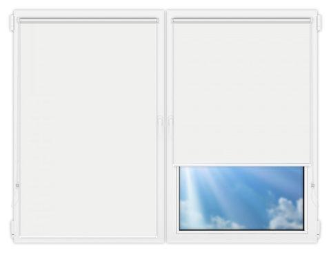 Рулонные шторы Мини - Аргентум-белый на пластиковые окна