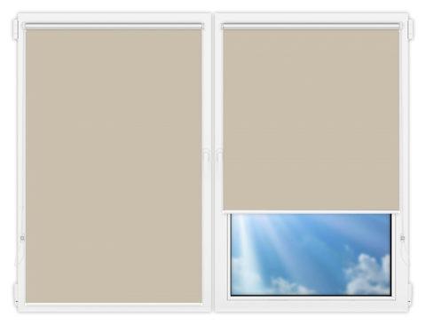 Рулонные шторы Мини - Аргентум-серый на пластиковые окна