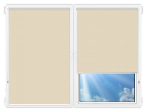Рулонные шторы Мини - Аргентум-темно-бежевый на пластиковые окна