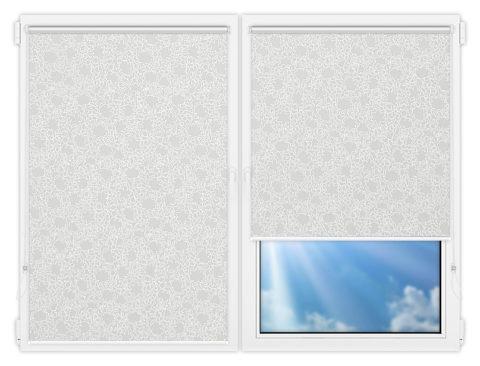 Рулонные шторы Мини - Индра-грей на пластиковые окна