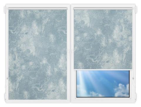 Рулонные шторы Мини - Клаудиа-блэкаут-блу на пластиковые окна