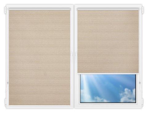 Рулонные шторы Мини - Маракеш-блэкаут-бейж на пластиковые окна
