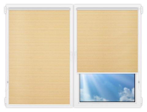 Рулонные шторы Мини - Маракеш-блэкаут-еллоу на пластиковые окна