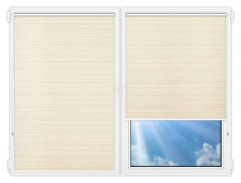 Рулонные шторы Мини - Маракеш-блэкаут-вайт на пластиковые окна