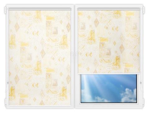 Рулонные шторы Мини - Салмиак-бейдж на пластиковые окна