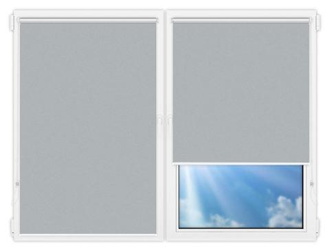 Рулонные шторы Мини - Силк-скрин-алю-белый на пластиковые окна
