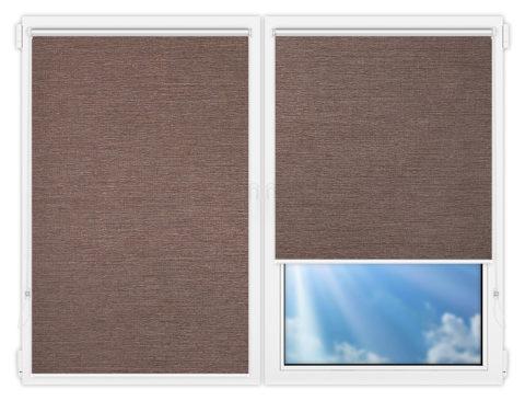 Рулонные шторы Мини - Валенсия-коричневый на пластиковые окна
