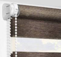 Рулонные шторы День-Ночь - Палермо темно-коричневый 16