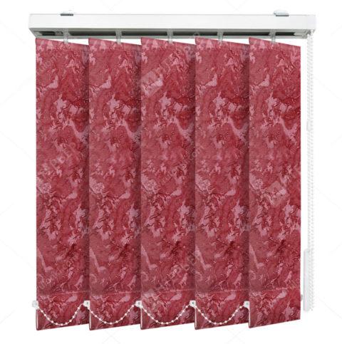 Вертикальные тканевые жалюзи Шёлк бордовый 4126