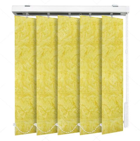 Вертикальные тканевые жалюзи Шёлк желтый 4117