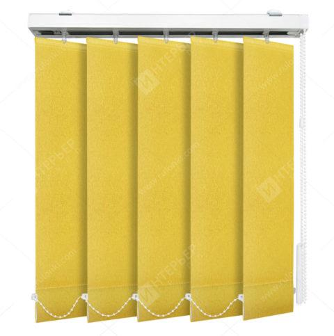 Вертикальные тканевые жалюзи Сиде желтый 3617