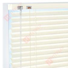 Горизонтальные перфорированные алюминиевые жалюзи на пластиковые окна - цвет жемчужно-белый