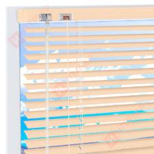 Горизонтальные алюминиевые жалюзи на пластиковые окна - цвет бежевый 16 мм