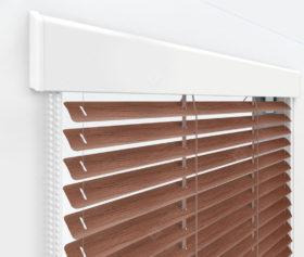 Жалюзи Изолайт 16 мм на пластиковые окна - цвет оранжево-коричневый