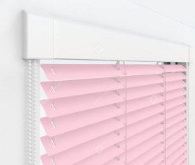 Жалюзи Изотра 25 мм на пластиковые окна - цвет персиковый