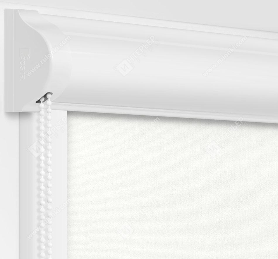 Рулонные кассетные шторы УНИ - Карина белая