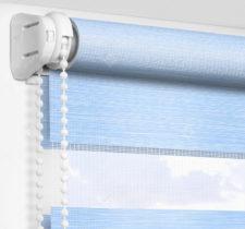 Рулонные шторы День-Ночь - Альто голубой 2748