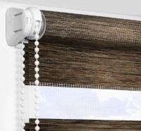 Рулонные шторы День-Ночь - Альто коричневый 2705