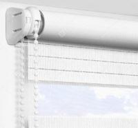 Рулонные шторы День-Ночь - Лигурия белый 2201